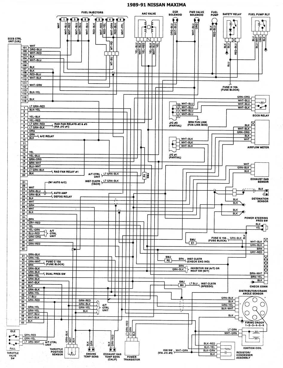 2000 land rover discovery 2 wiring diagram johnson outboard key switch nissan 1986/93 | diagramas esquemas ubicacion de componentes mecanica automotriz