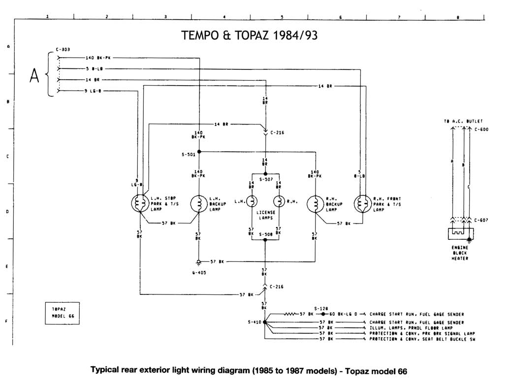 1994 ford thunderbird radio wiring diagram ibanez guitar 1992 tempo get free image about