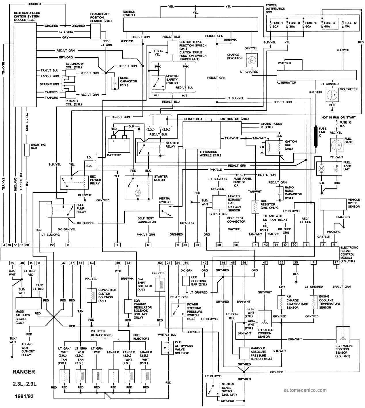 hight resolution of ford ranger esquemas diagramas graphics 1985 ford bronco radio wiring diagram 95 ford f 250
