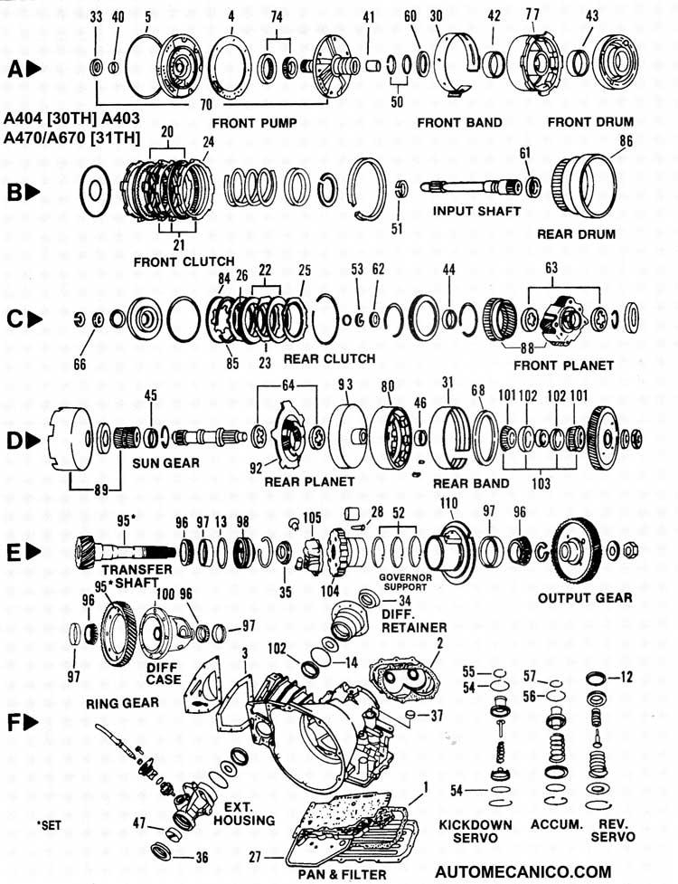 CHRYSLER-NEON|TRANSMISIONES AUTOMATICAS|COMPONENTES