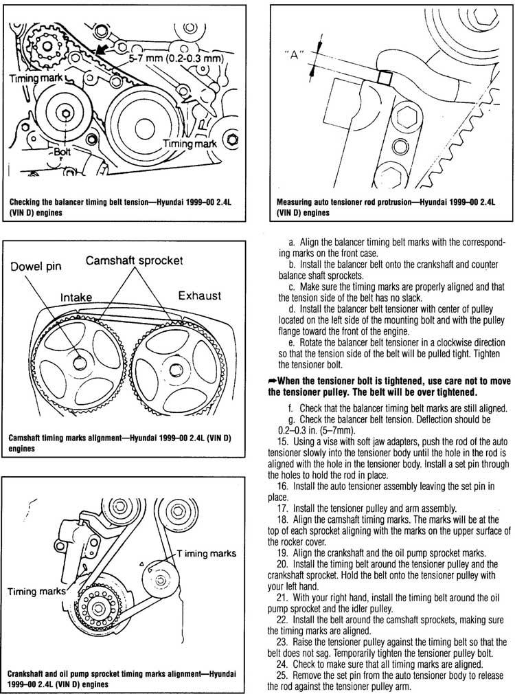 ¿como poner a tiempo el motor d4bh del h100 diesel