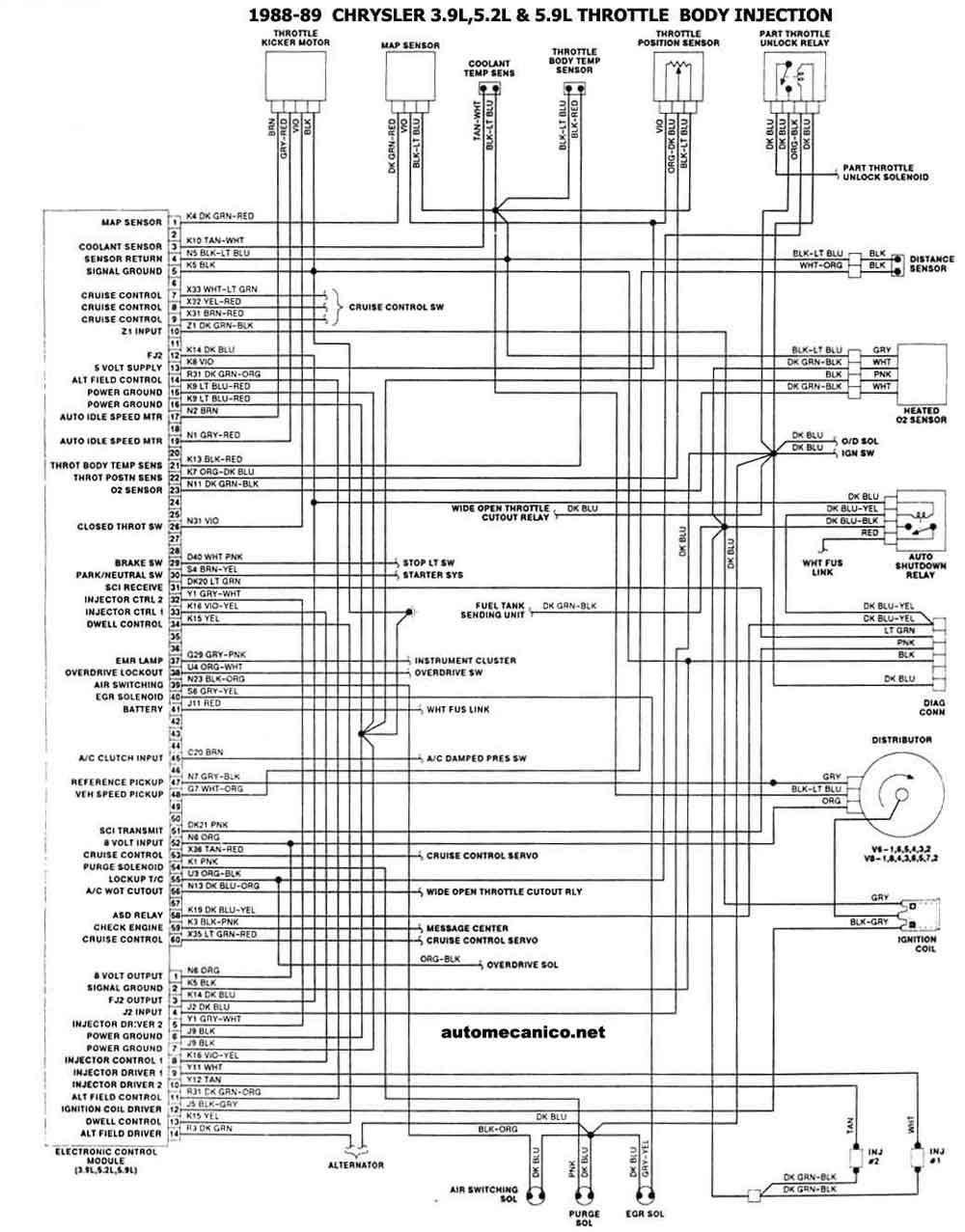 Diagrama de encendido electronico de chrysler