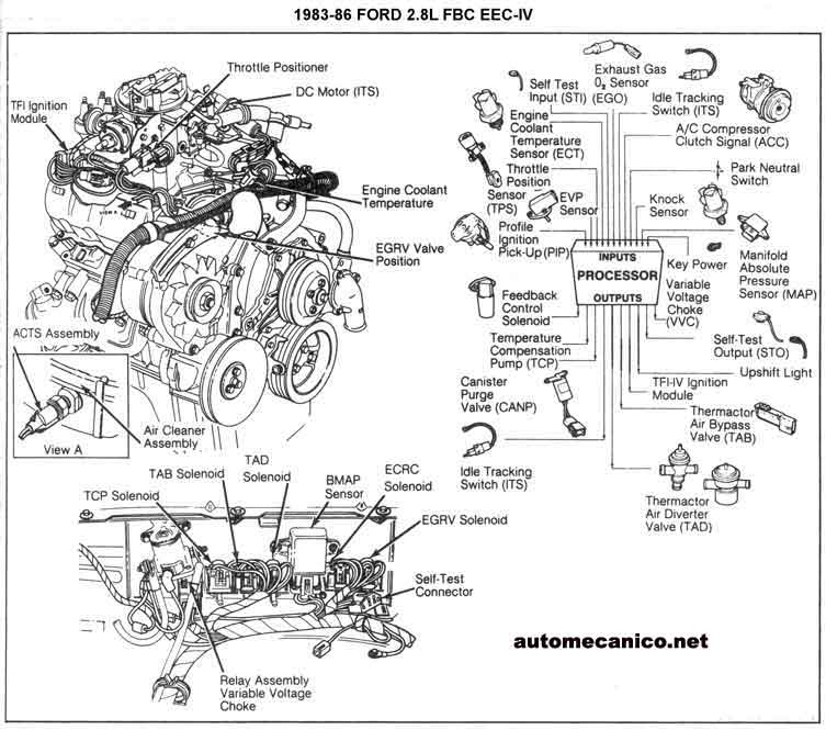 C1987 Ford Ranger V6 Engine Diagram. Ford. Auto Wiring Diagram