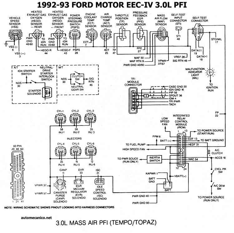Manual de ford topaz 93