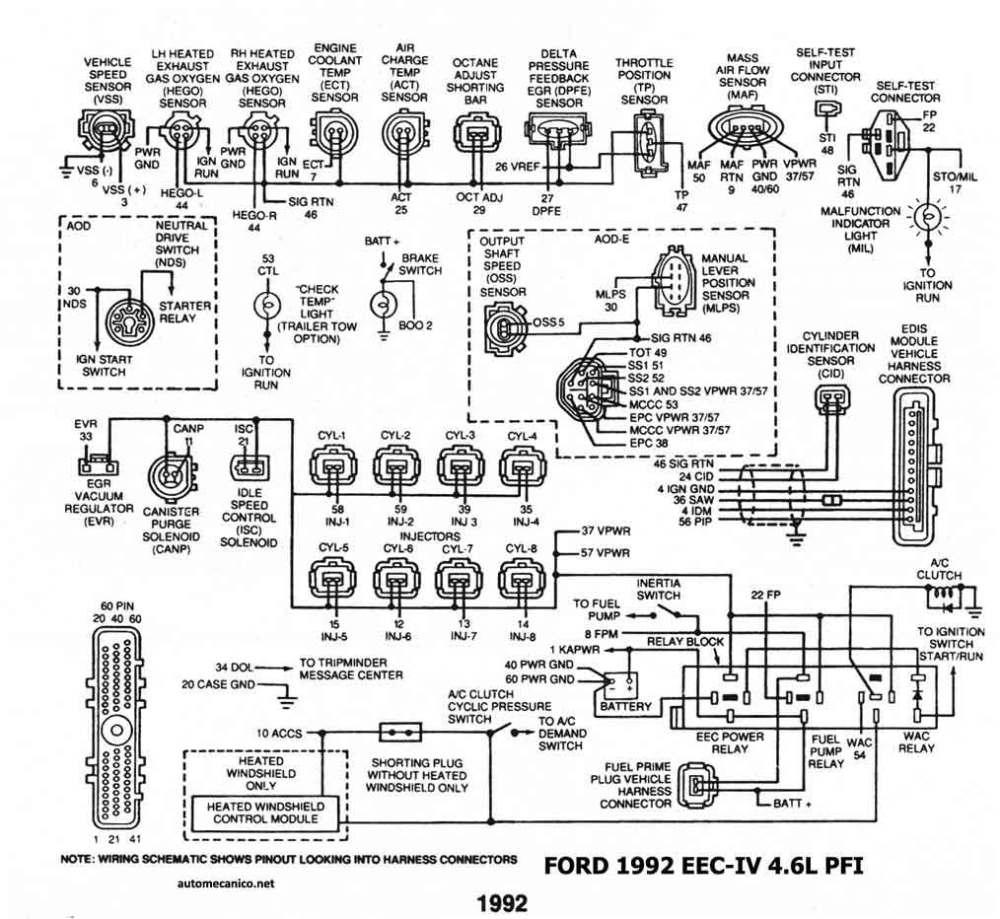 medium resolution of 1992 eec iv 4 6l pfi