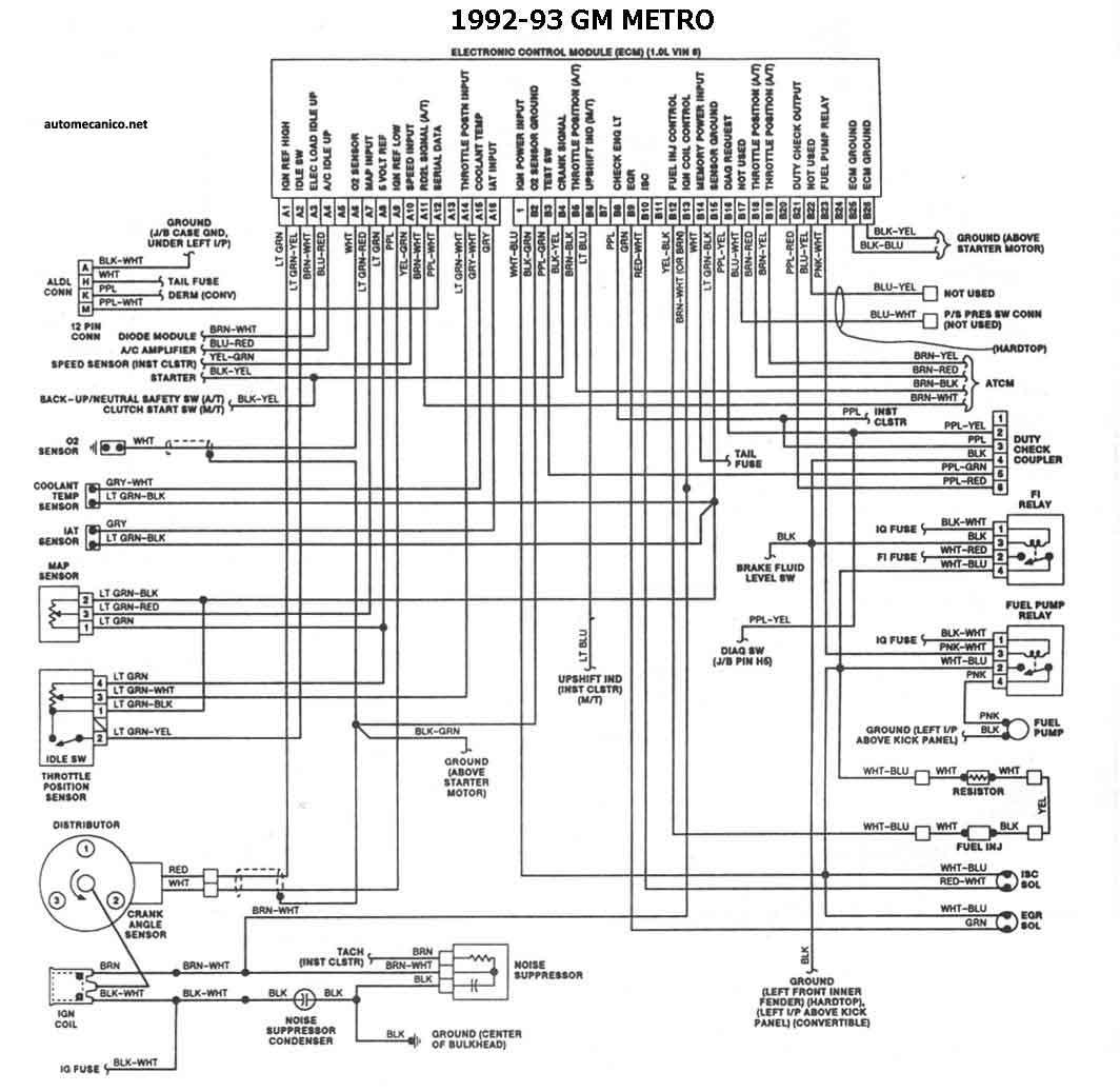 Geo Prizm 91 Ecu Diagram