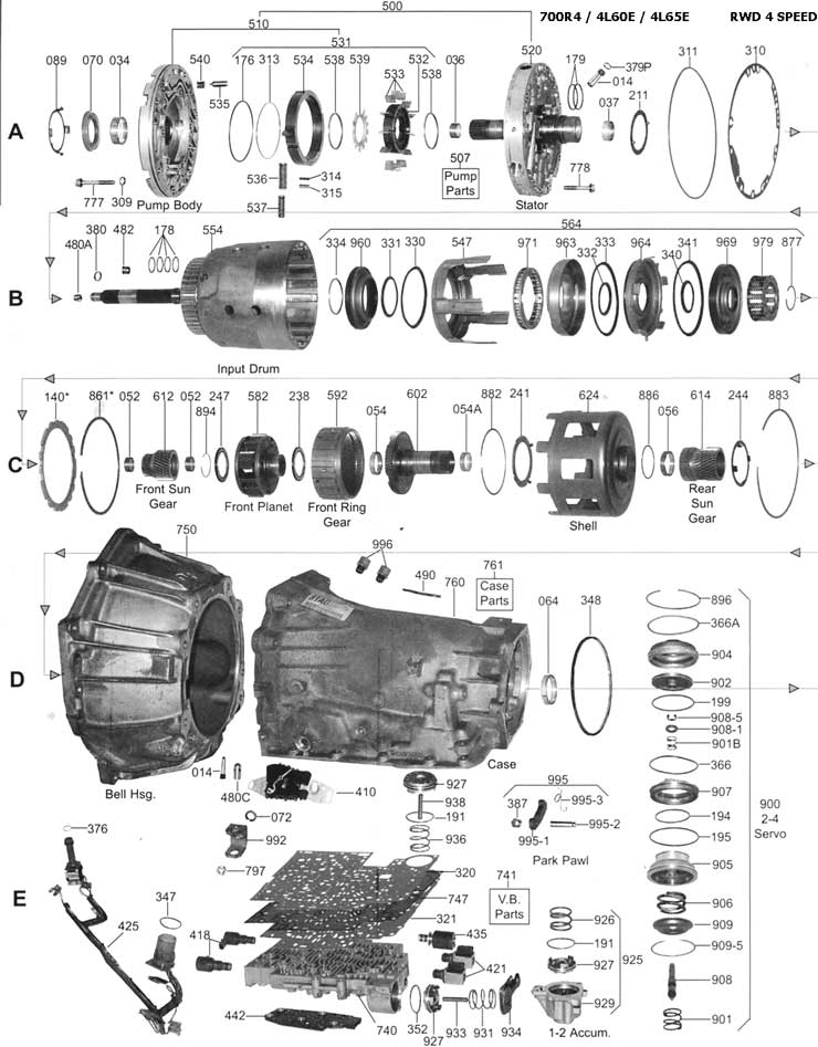 4l60e Transmission Schematics 4T65E Transmission
