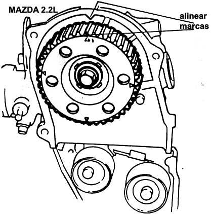 Timing Belt Mazda 626.1993 MX 5L V6 Left Side Timing