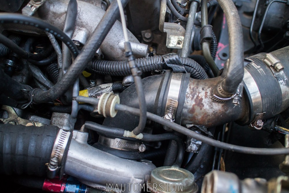 medium resolution of custom intake on turbo subaru wagon