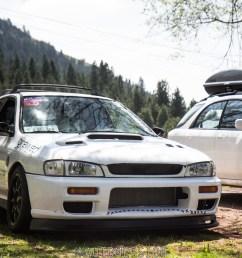 lowered subaru impreza and lifted subaru impreza wagon [ 1500 x 1000 Pixel ]