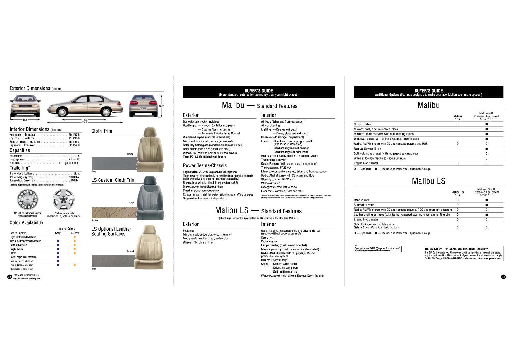 2002 Chevrolet Malibu brochure