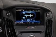 Le tableau de bord de la Ford focus électrique