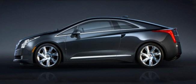 Profil gauche de la Cadillac ELR