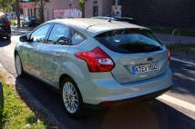 L'arrière de la Ford Focus électrique