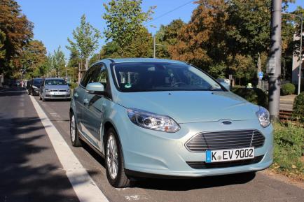 La face avant de la Ford Focus électrique