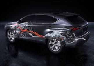 Schéma du système hybride du Lexus NX 300h