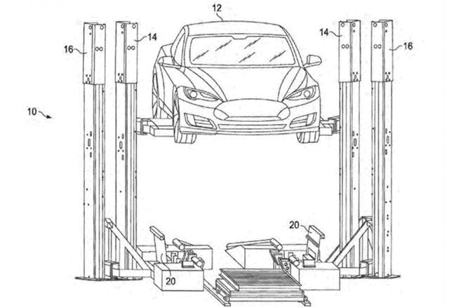 Tesla dépose un nouveau brevet sur un système d'échange de