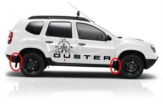 Dacia Duster 2010 2011 2012 2013 2014 2015 Car Mud Guards