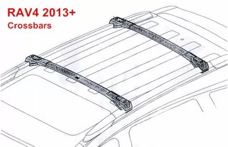 Genuine Toyota Cross Bars for 2013 2014 Toyota RAV4 Auto