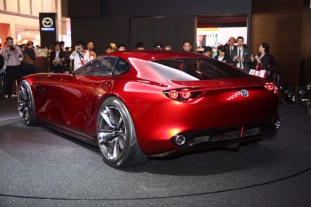 Mazda RX Vision Live Shots Rear Three Quarter