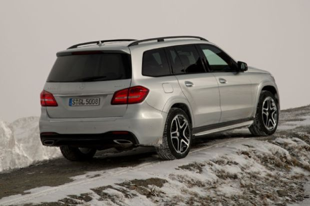 2017 Mercedes Benz GLS550 4Matic Rear Side View
