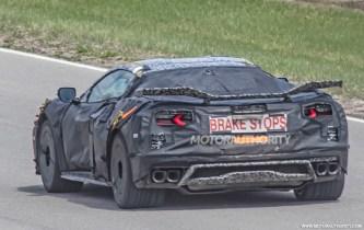 2022 Chevrolet Corvette Z06 spy shots and video: Flat-plane-crank V-8 sings