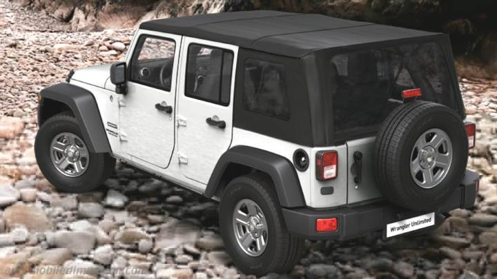 Jeep Wrangler Unlimited 2011 Abmessungen