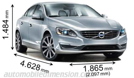 Dimensions Of Volvo Cars Showing Length