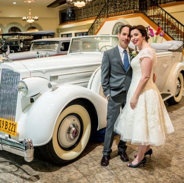 Roberto & Nicole Wedding - Rent a Vintage Car for your wedding 3