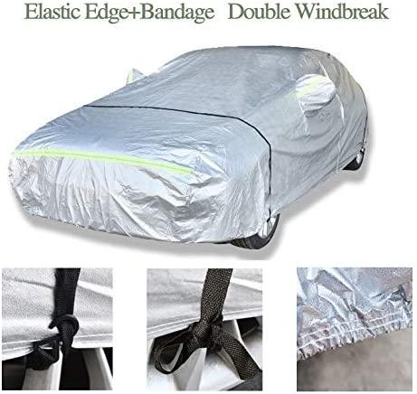 AOYMEI Full Car Cover Waterproof All Weather, Automobile Cover Sunproof Rainproof Windproof Scratch Resistant Reflective Strips Cotton Inside (Sedan, fit Length (196''-208''))