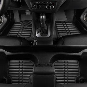 car mats 3D Waterproof Custom Car Floor Mats Front & Rear FloorLiner Styling Auto Carpet Mat For HONDA CIVIC 2016 2017 2018 2019