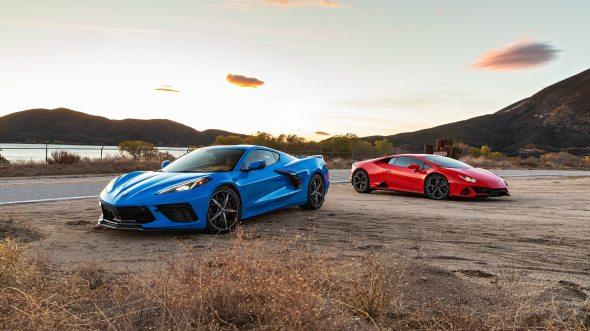 2020 Chevy Corvette vs Lambo Huracan EVO 1