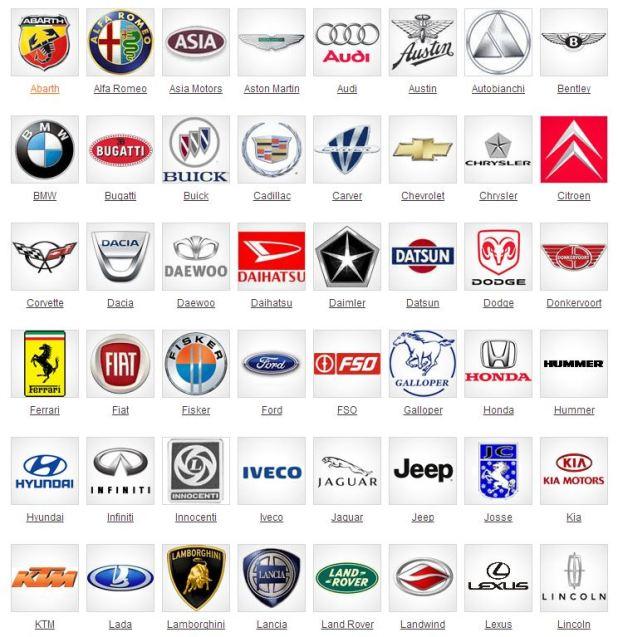 All Cars Company Name List Carlazosfo