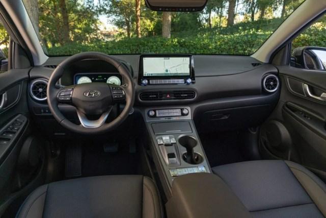 2022 Hyundai Kona Electric interior.