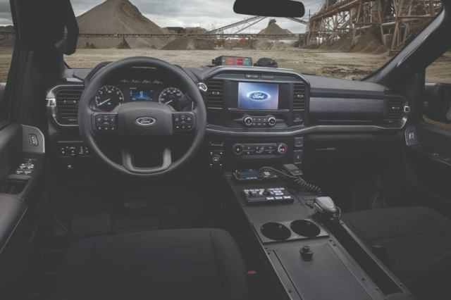 2021 Interior of the Ford F-150 Police Responder.
