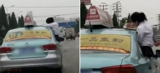 China Taxi Accident