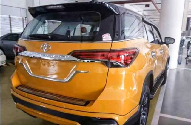Toyota fortuner modified 2018 sunshine yellow