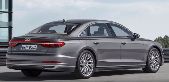 Audi A8 Saloon 2019 Exteriors Rear Back