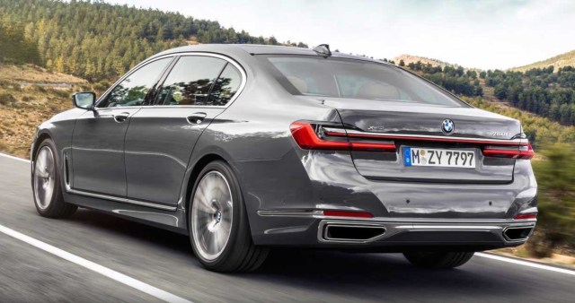 BMW 7 series 2019 rear back exterior side metallic