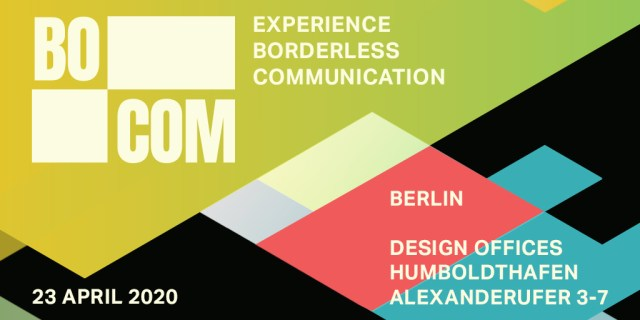 Save the date for BOCOM on 23 April 2020