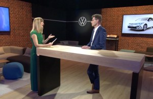 Volkswagen press conference transformed into a studio talk format