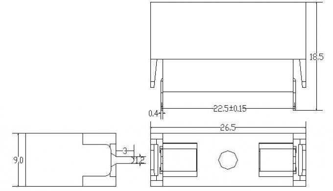 PA66 250v Inline Fuse Holder Pcb Mount PTF Fuse Block