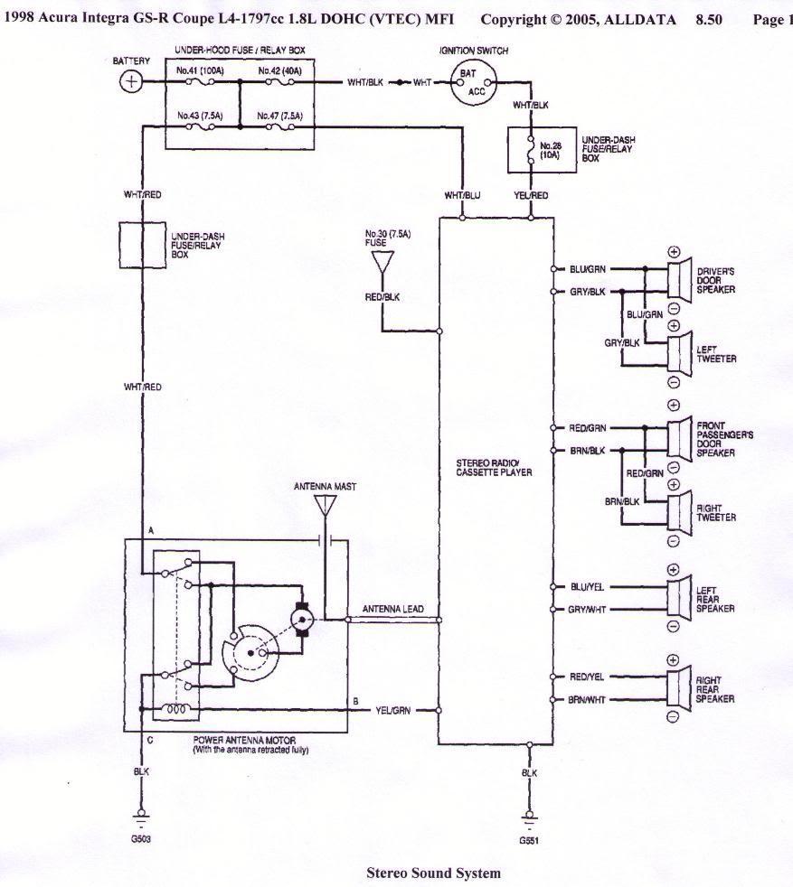 94 acura integra stereo wiring diagram trailer 7 pin 5 wires australia 2001 - sierramichelsslettvet.