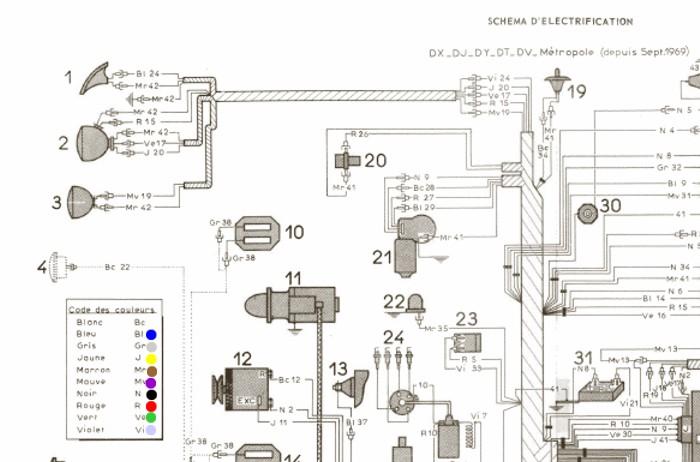 citroen ds21 wiring diagram