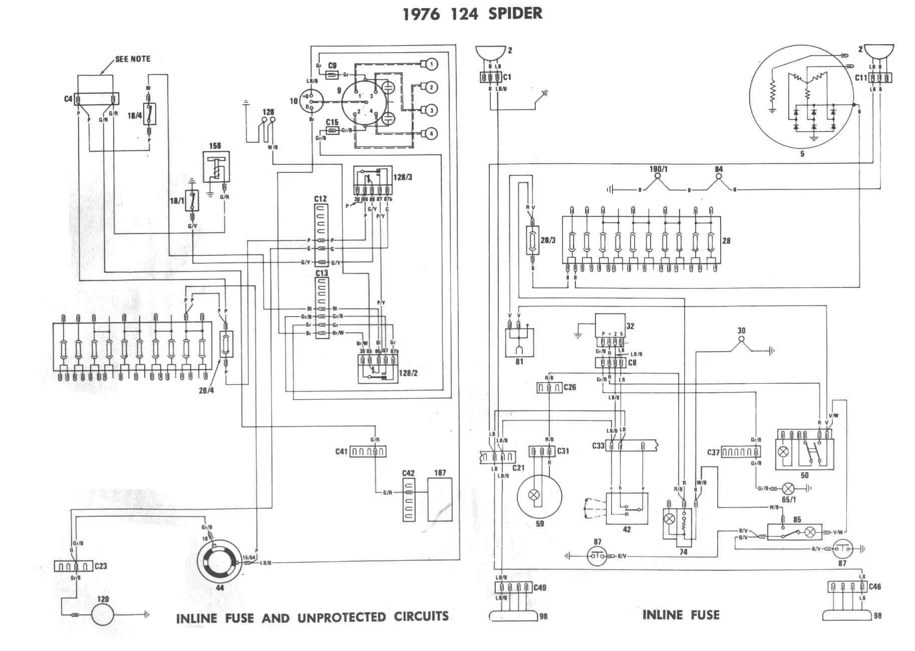 1976 fiat 124 spider wiring diagram