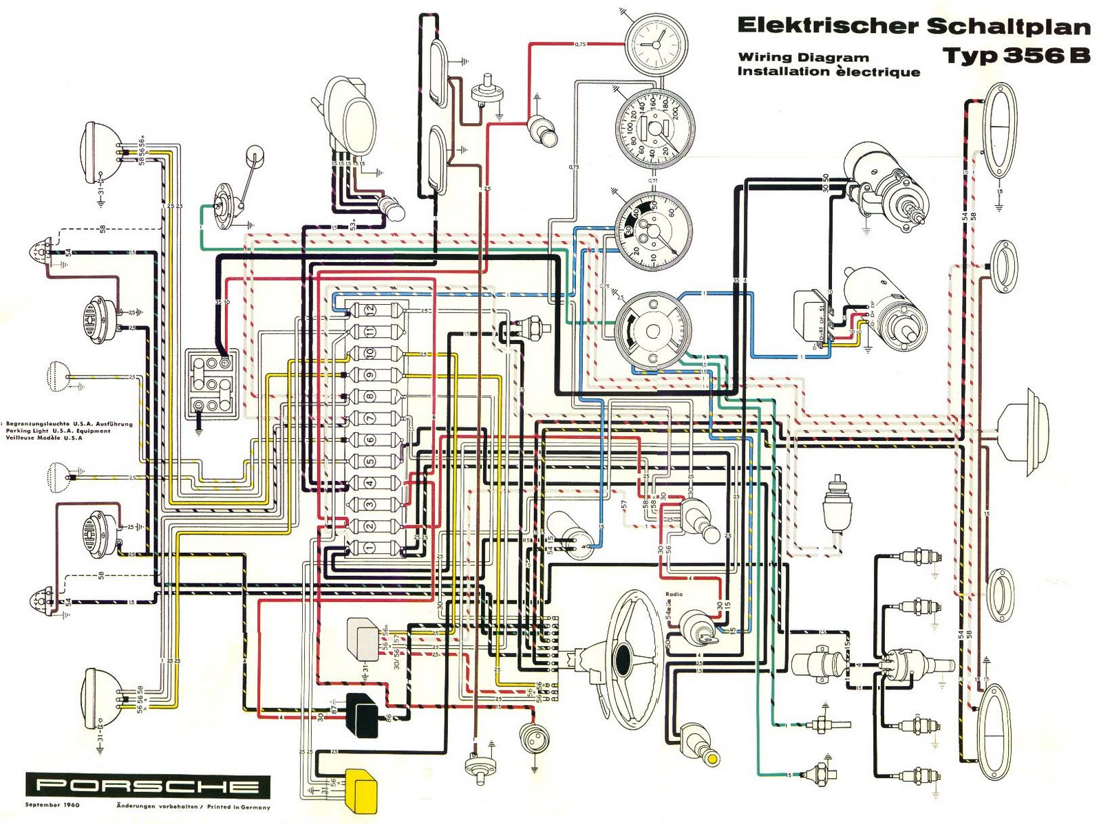 medium resolution of porsche 356 ignition switch wiring diagram best secret wiring basic house wiring diagrams 356a wiring diagram
