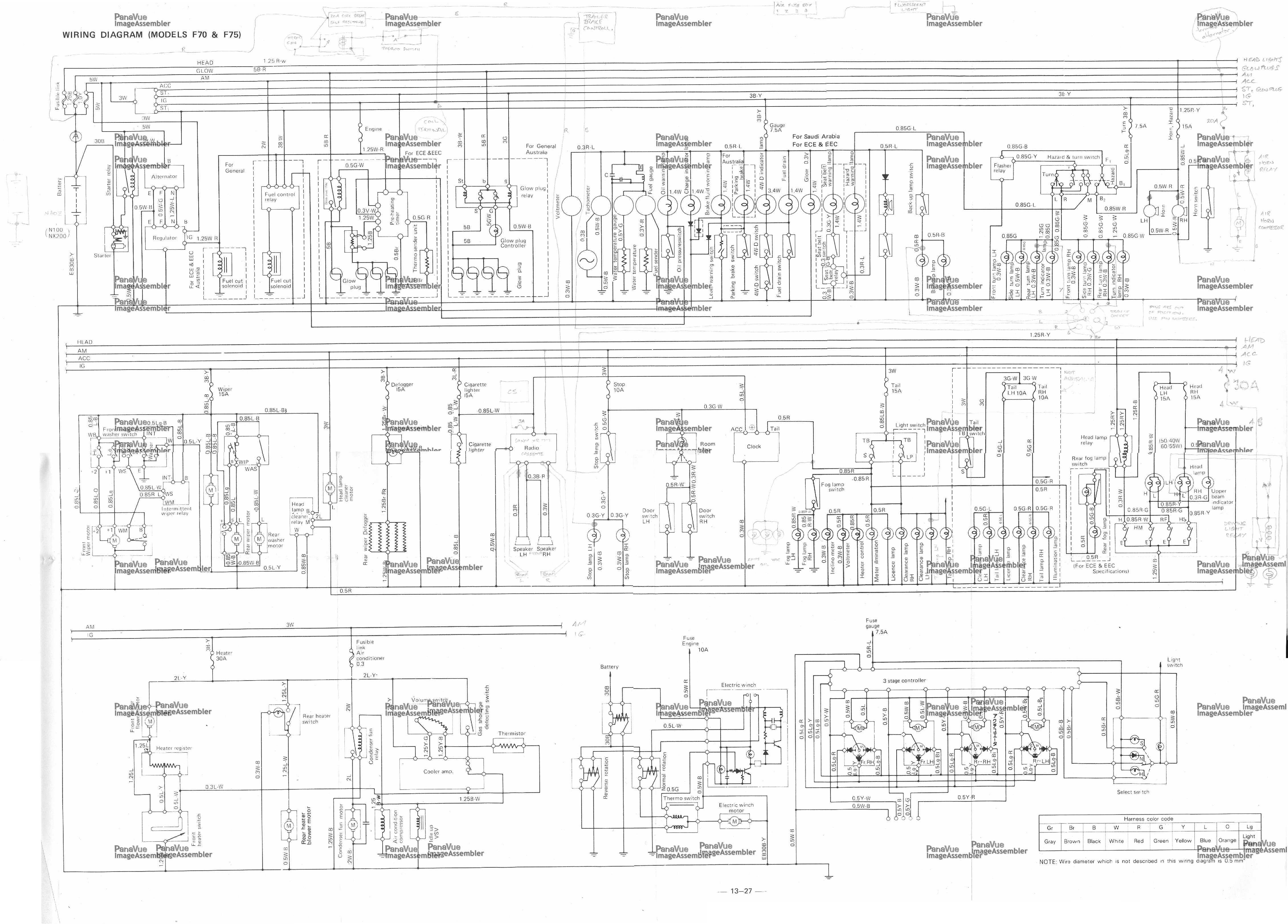 wiring diagram ac daihatsu taruna