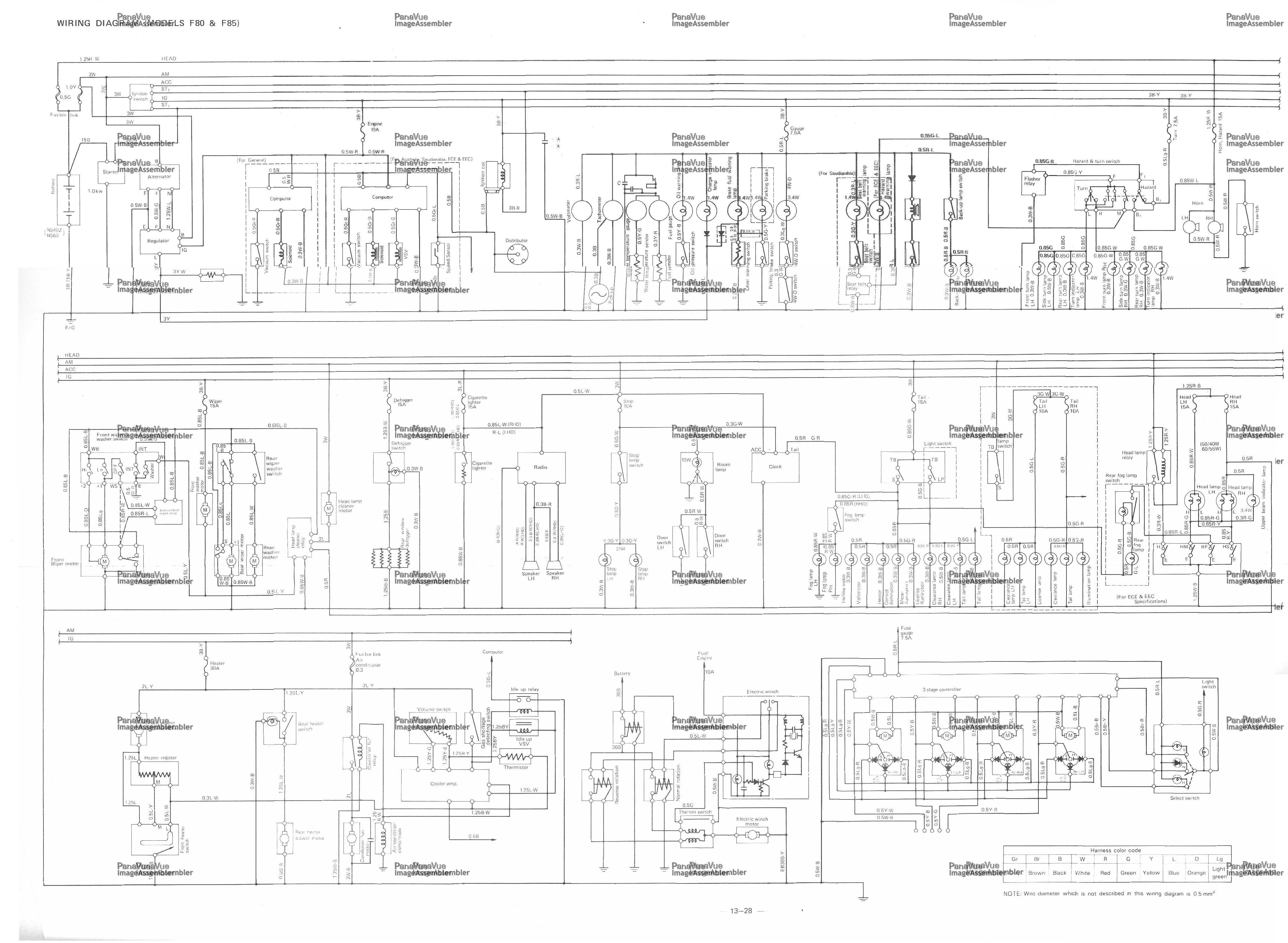medium resolution of daihatsu wiring diagram f80 f85