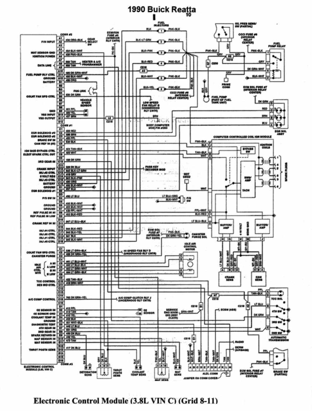 medium resolution of electronic wiring diagram of 1990 buick reatta