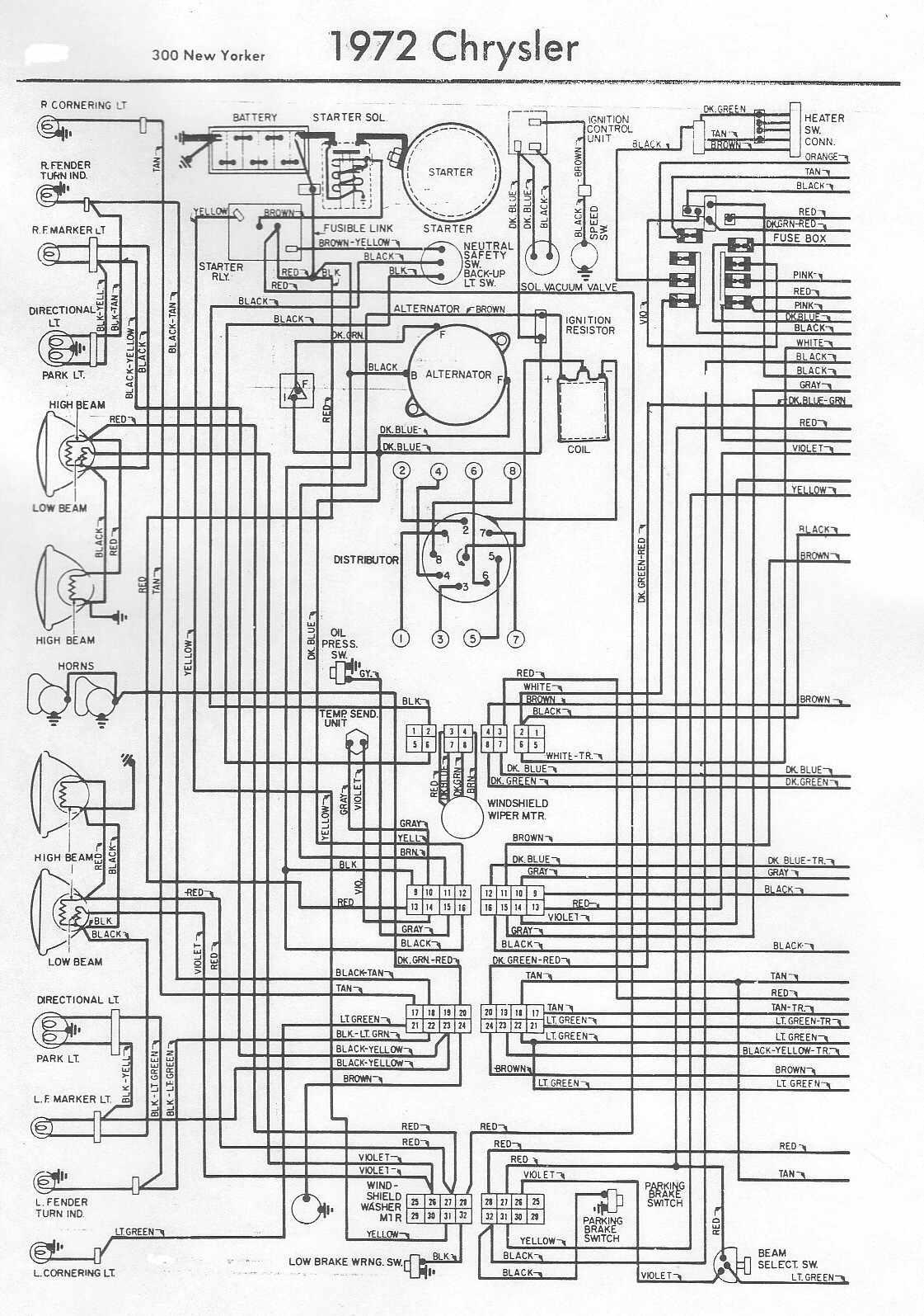 1992 chrysler lebaron wiring diagram [ 1121 x 1595 Pixel ]